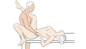 one leg at shoulder
